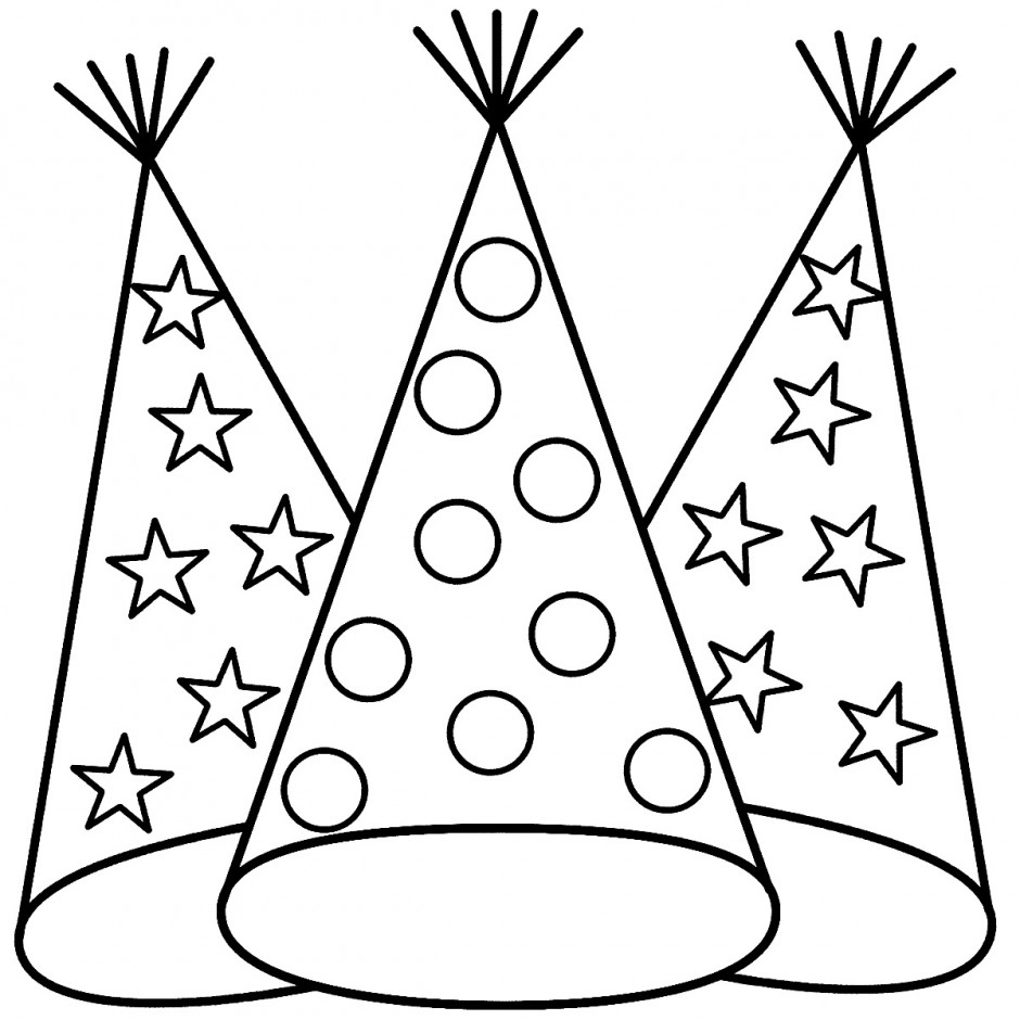 Hat Coloring Pages Best Coloring Pages For Kids Coloring Home