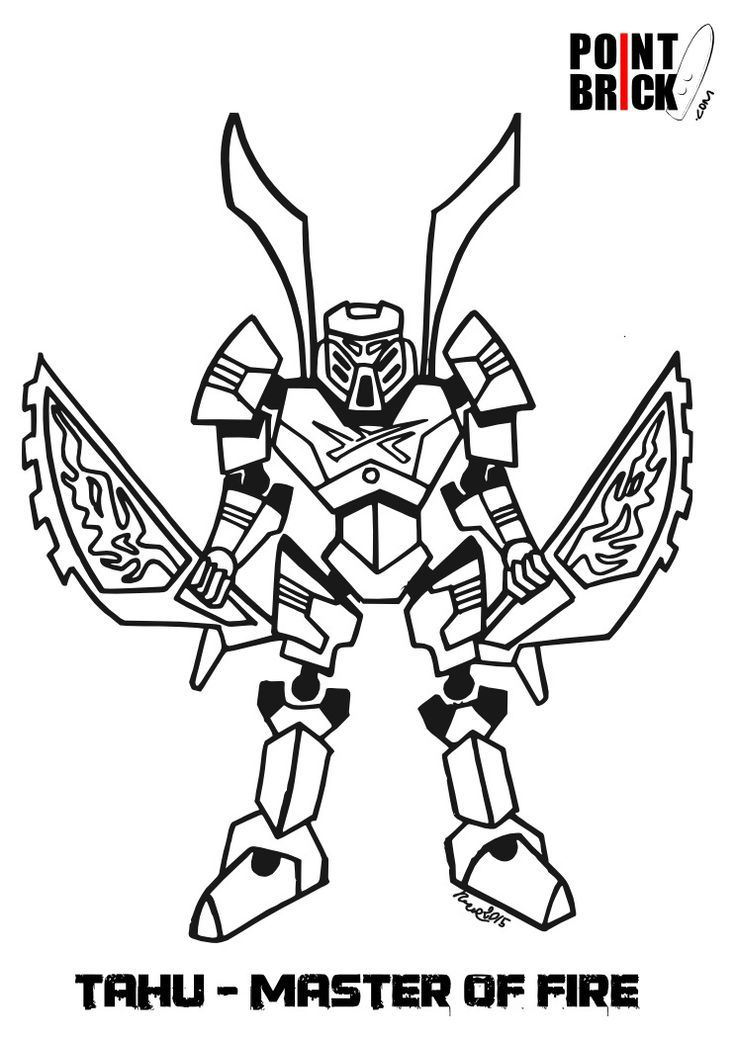 Lego Bionicle Coloring Page Coloring