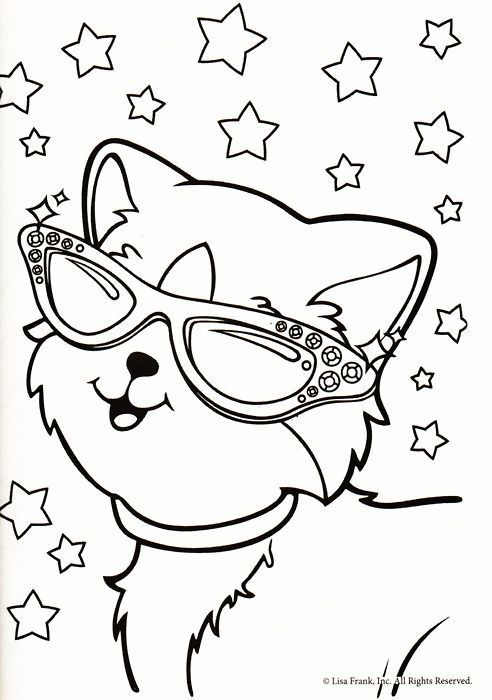 lisa frank coloring pages tiger - photo#12