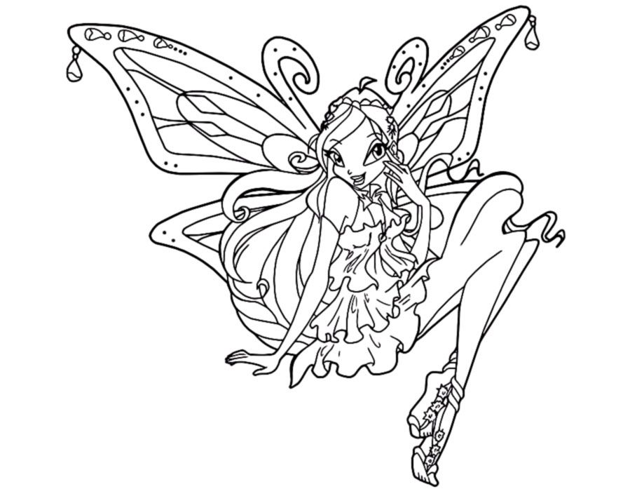 Winx Coloring Pages Pdf : Winx bloom coloring pages for girls home