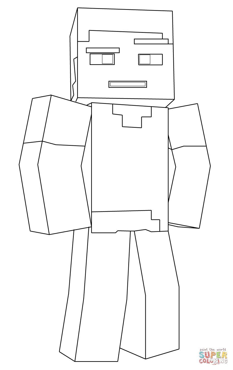 Minecraft Coloring Pages Steve Coloring Home