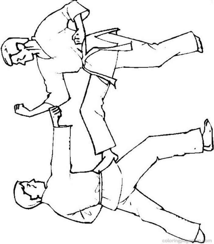 Karate Coloring Pages Download And Print For Free Coloring Home