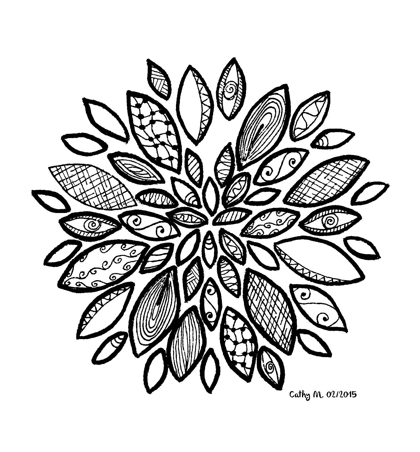 Zentangle - Coloring Pages for adults : coloring-zentangle-by ...