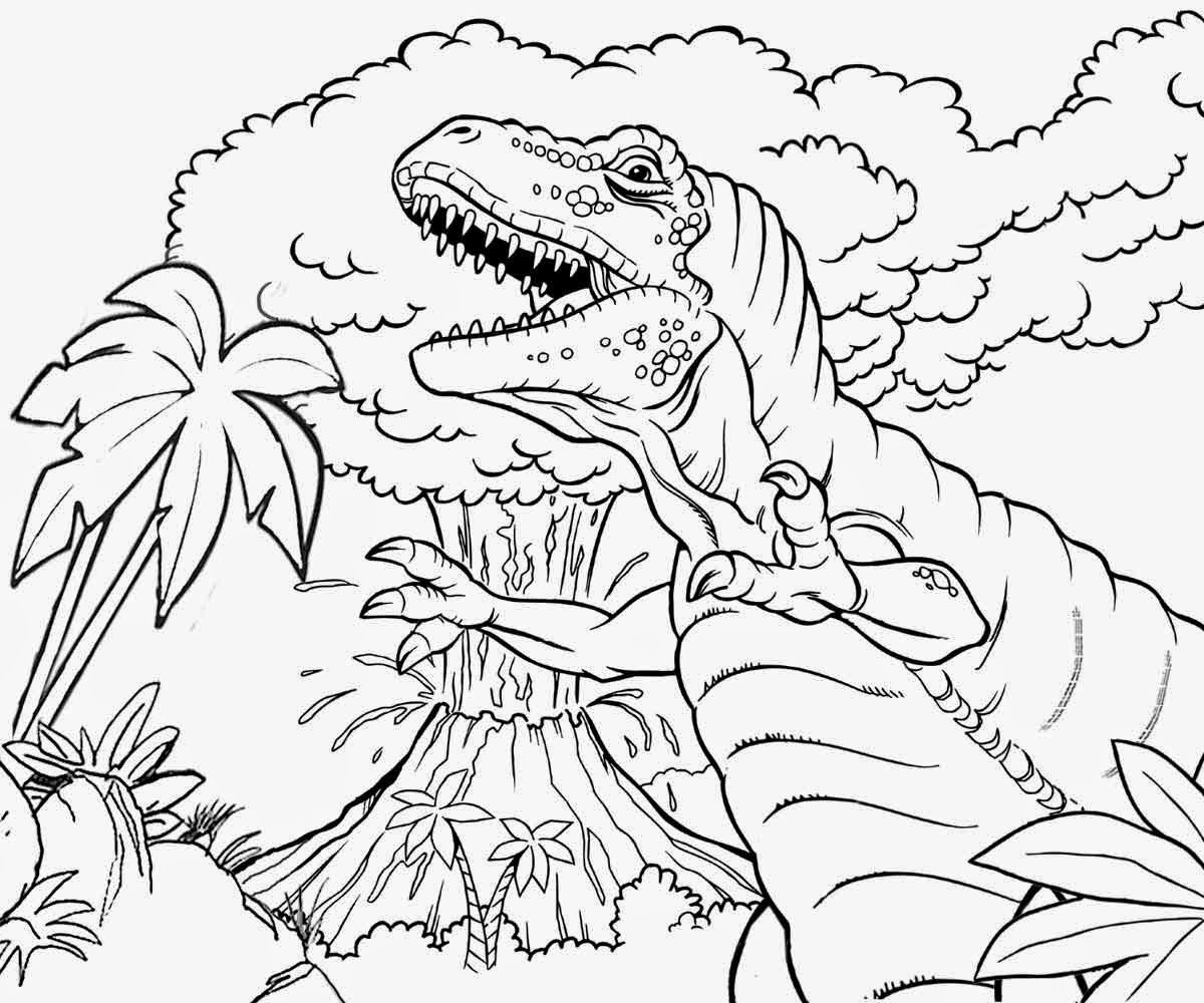 volcano coloring book pages - photo#15