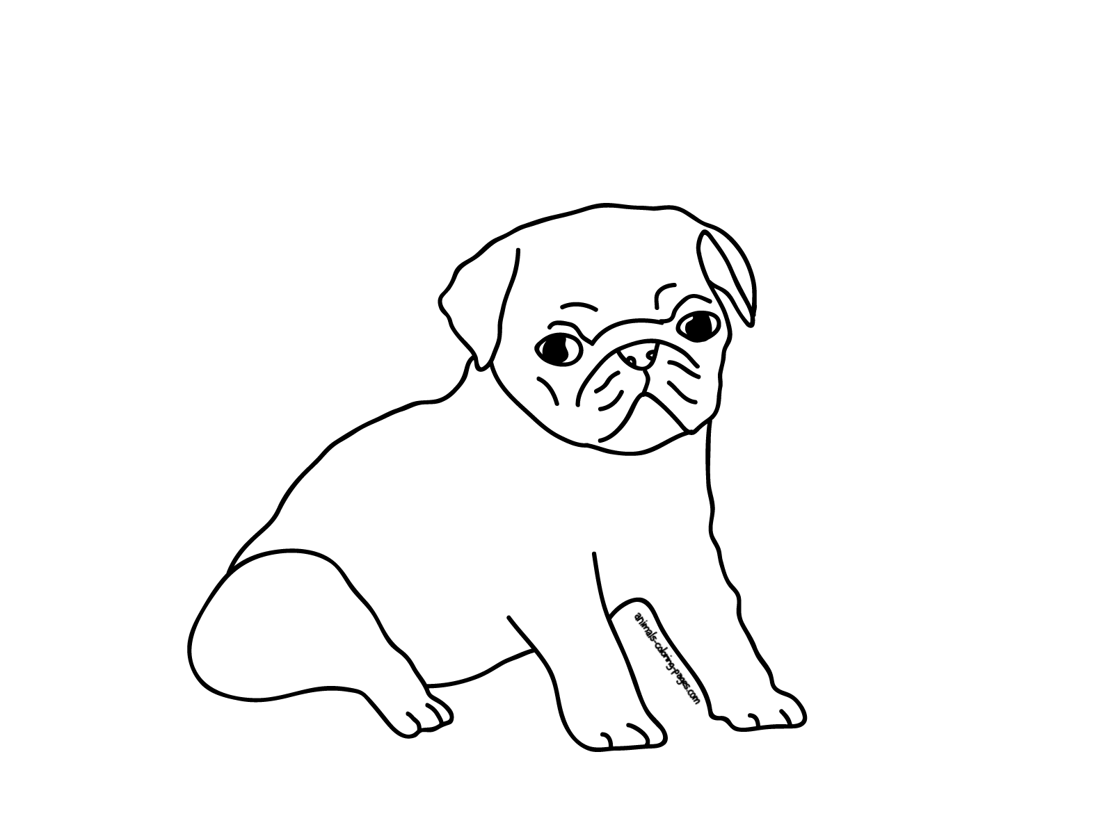 Printable Pug Coloring Pages Coloring Home Pugs Coloring Pages