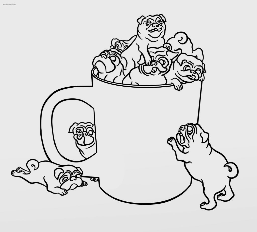 pug coloring pages - photo#8