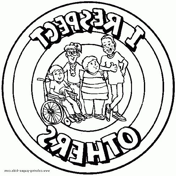 Pages About Respect Coloring Pages