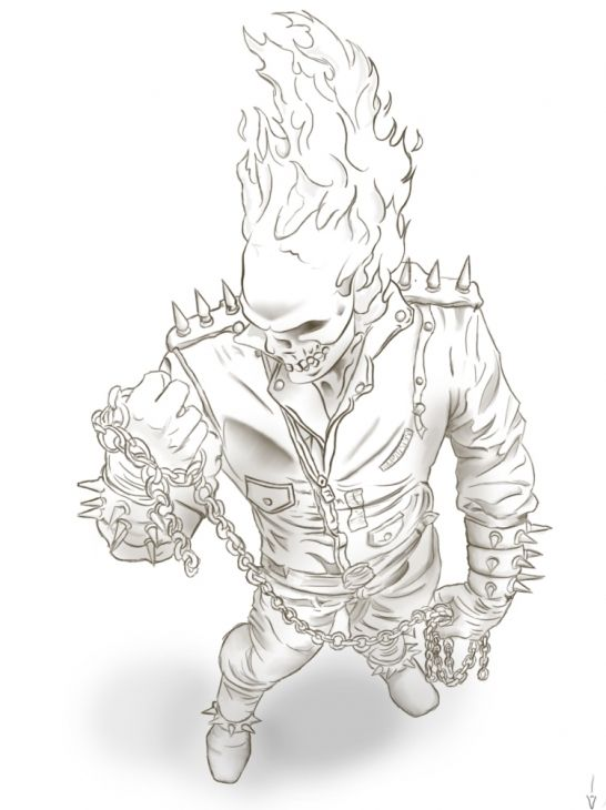 ghost rider free coloring pages - photo#14
