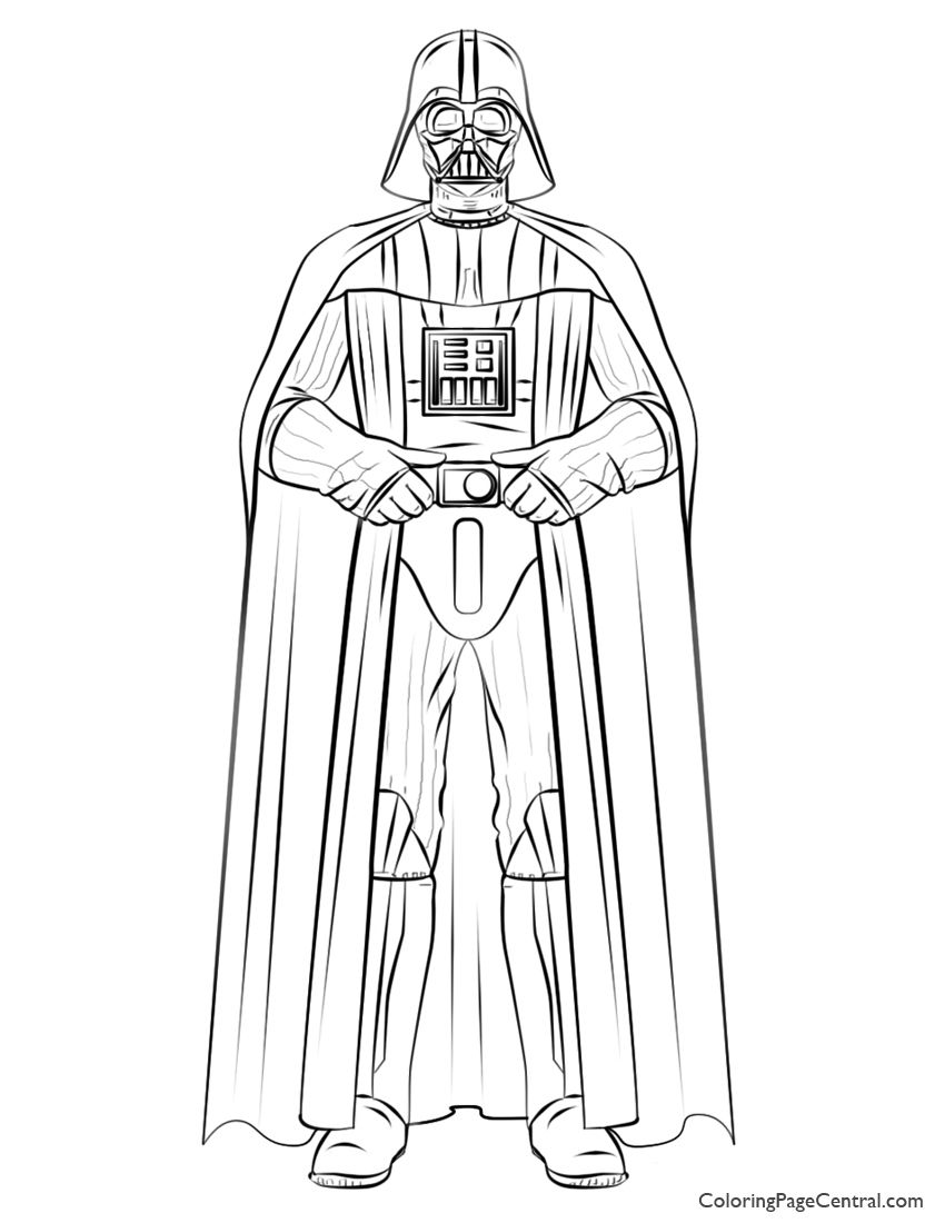 Star Wars – Darth Vader 01 Coloring Page | Coloring Page Central