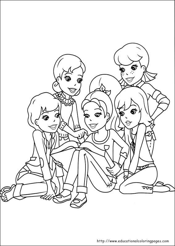 Polly Pocket Pages Educational Fun Kids Coloring Pages And
