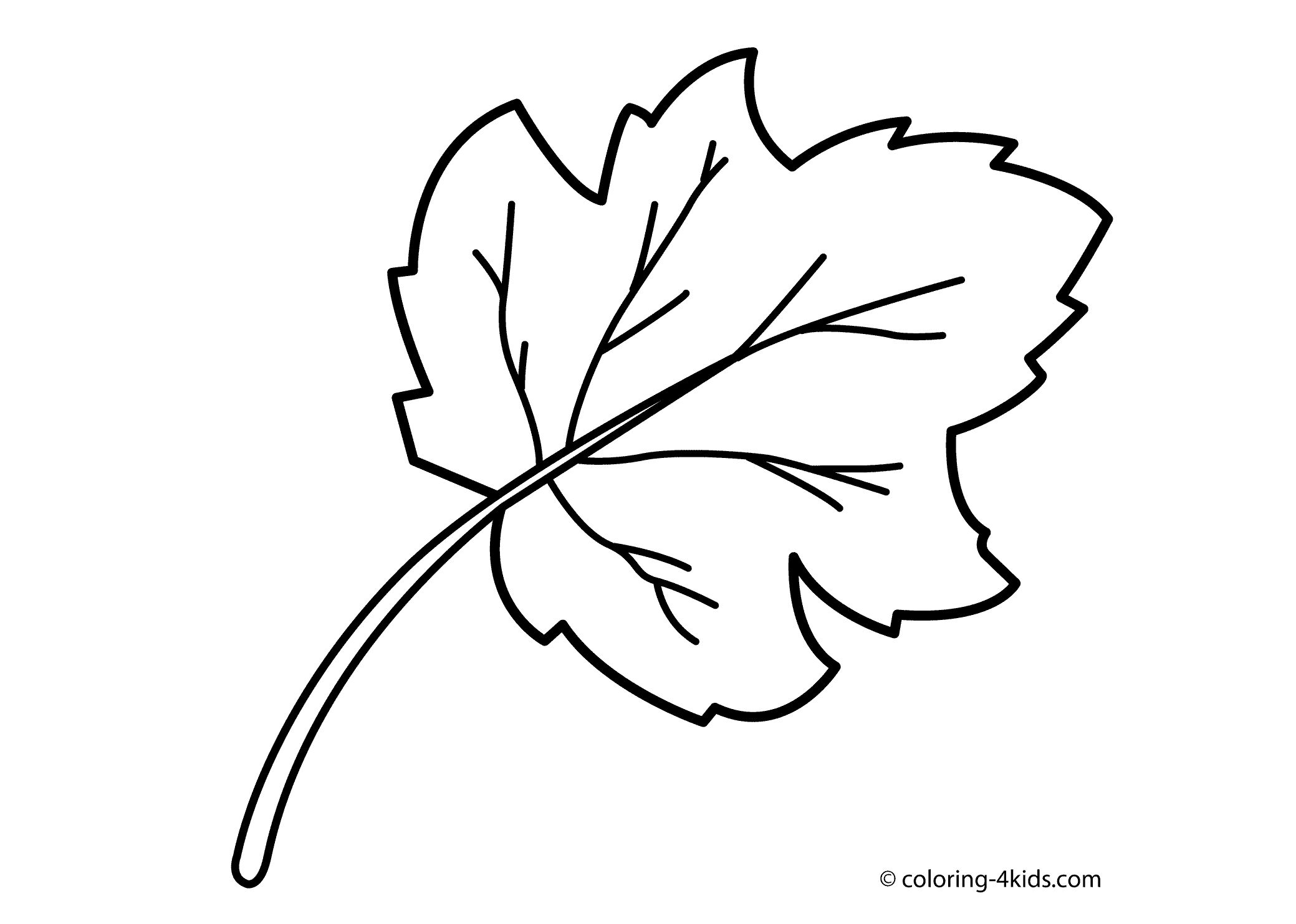 Trees And Leaves Coloring Pages Coloring Home