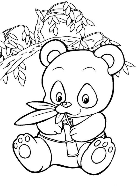 Cute Panda Coloring Pages - Coloring Home