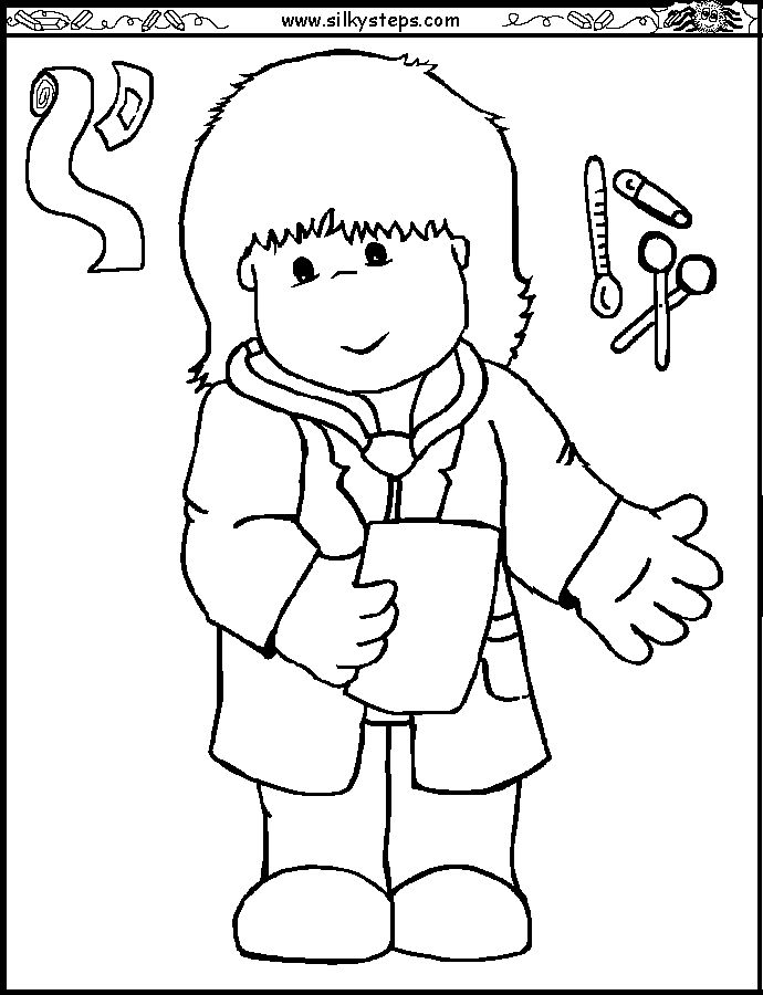 Preschool Free Coloring Pages Of Children Doctors, Saved Doctor ...