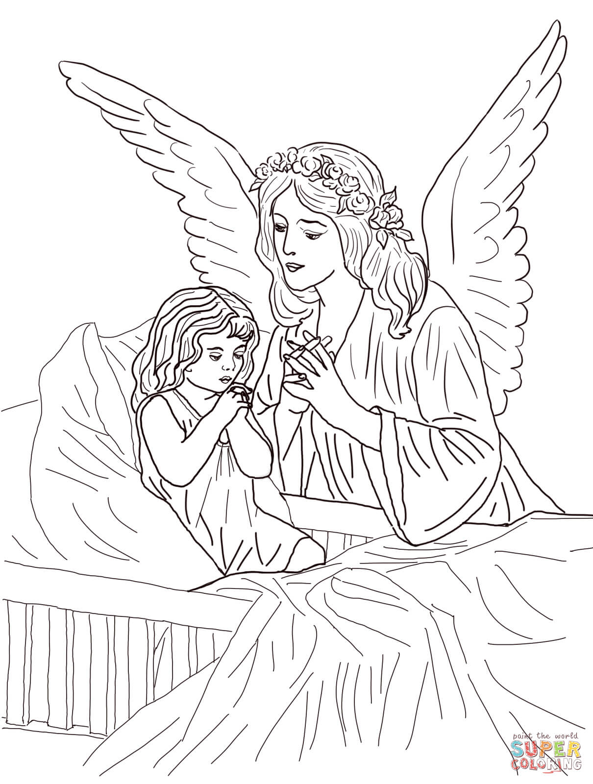 Angel - Coloring Pages for Kids and for Adults