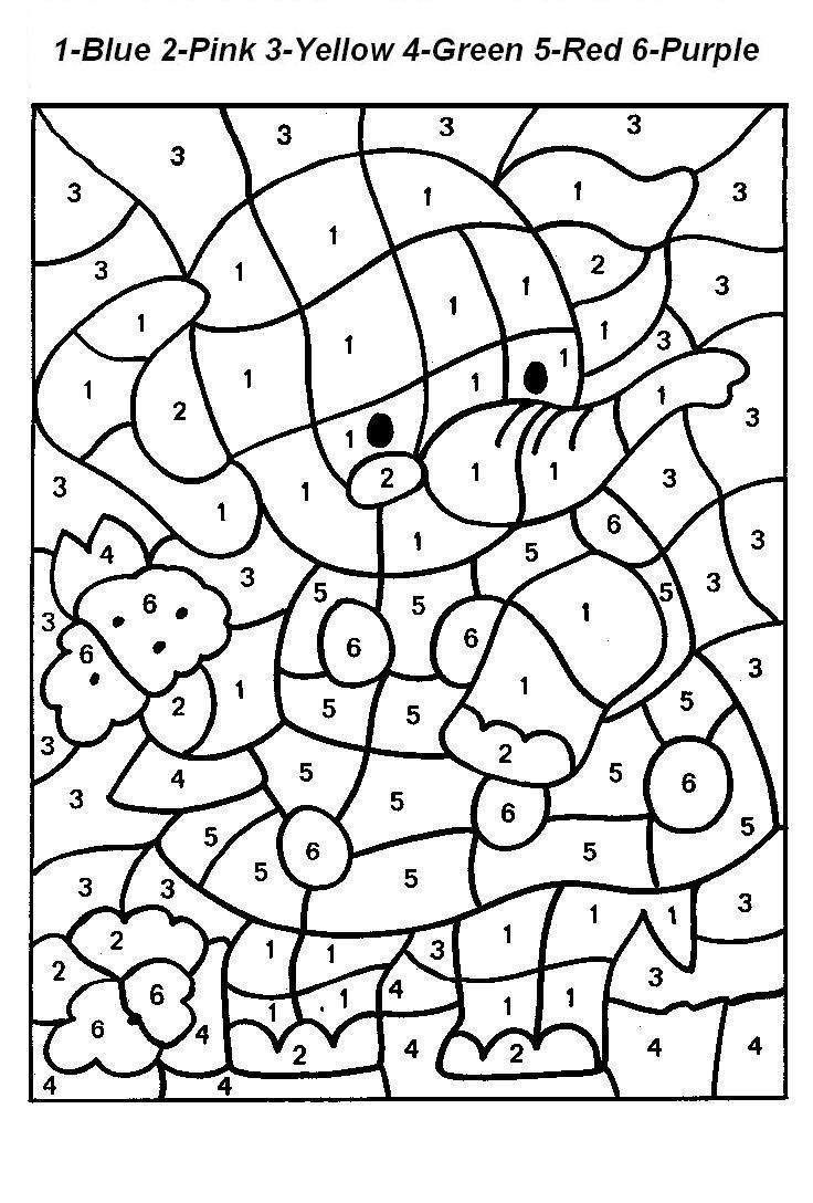 coloring pages according to numbers - free printable paint by numbers for adults coloring home