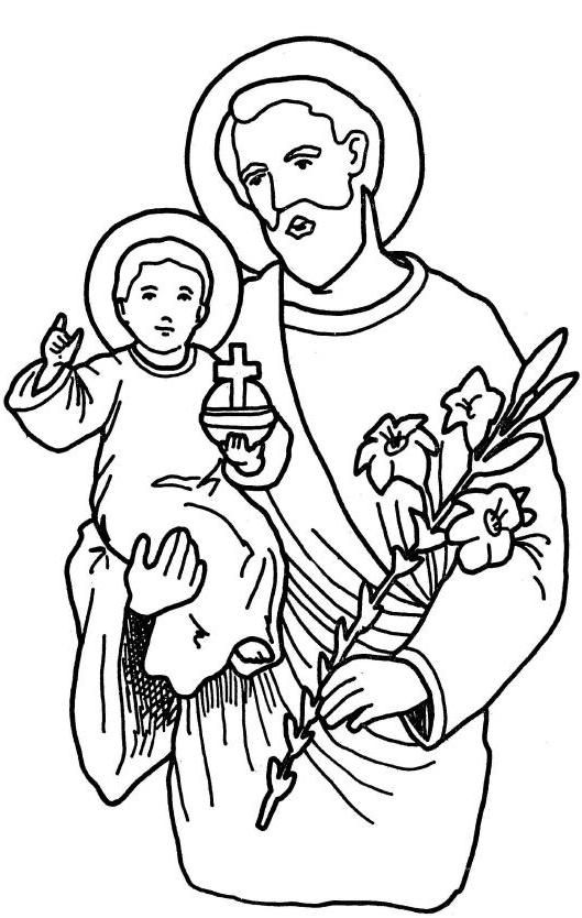 Free Catholic Saints Coloring Pages For Kids