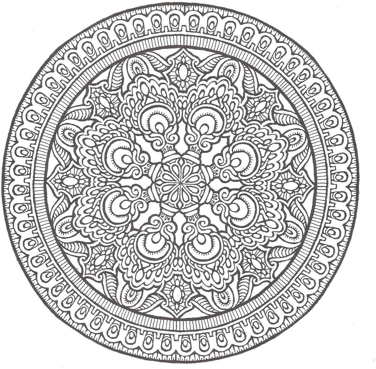 advanced mandala coloring pages printable - photo#7