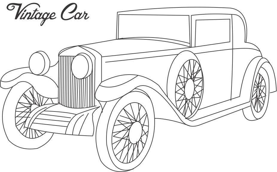 pin old car coloring - photo #29