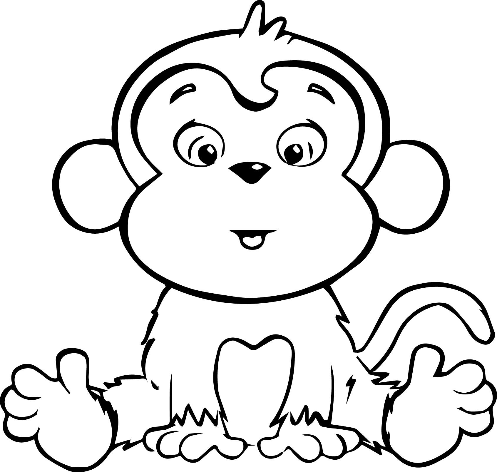 Is For Monkey Coloring Pages : Monkey Coloring Book Page Coloring Home