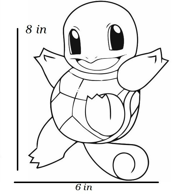 squirtle coloring page coloring home