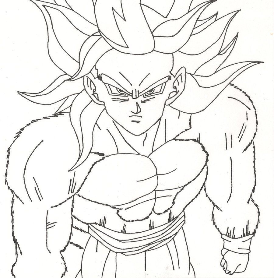 Dragon Ball Z Coloring Pages Printable Coloriage De Sangoku Super Coloring Home
