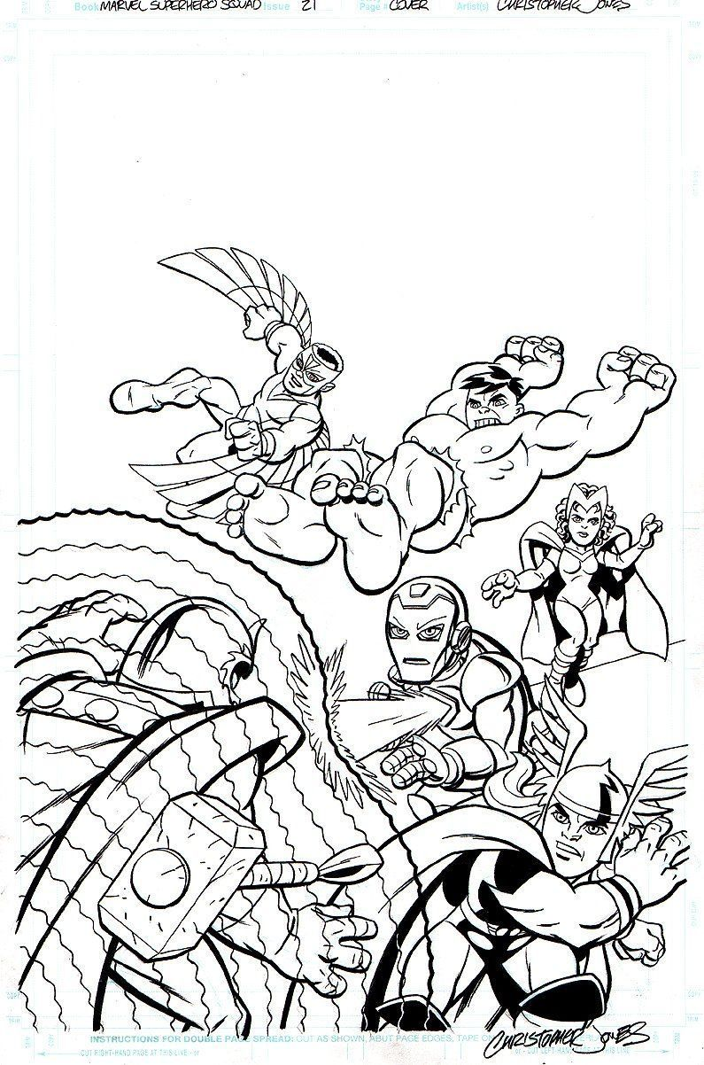 Marvel super hero squad az coloring pages coloring home for Super hero squad coloring page