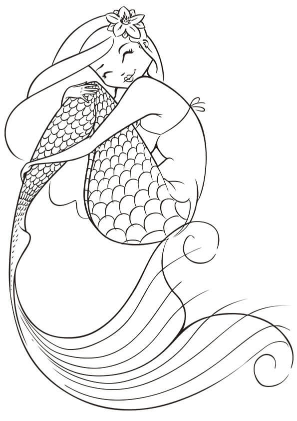 Adult Coloring Pages Mermaid Coloring Home Mermaid Printable Coloring Pages