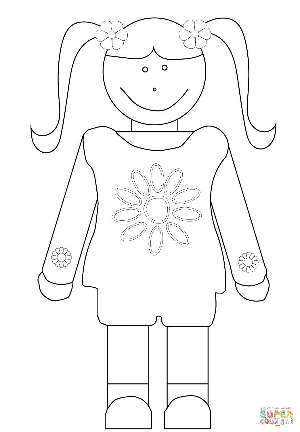 Girl scouts daisy coloring pages coloring home for Girl scout coloring pages for daisies