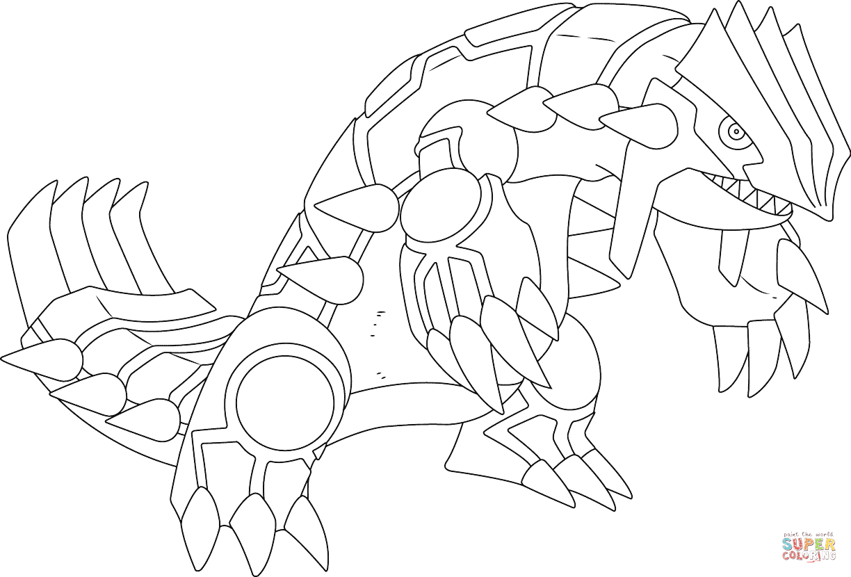 Pokemon Groudon Coloring Pages