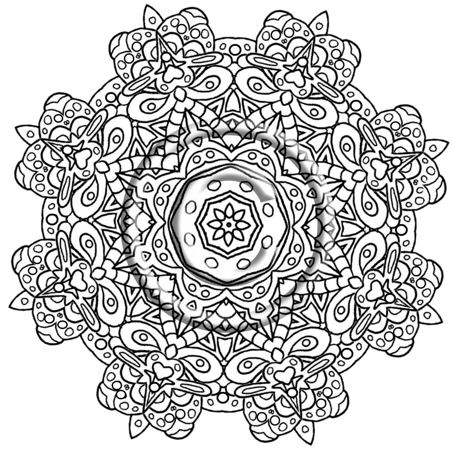 intricate mandala coloring pages free - photo#31