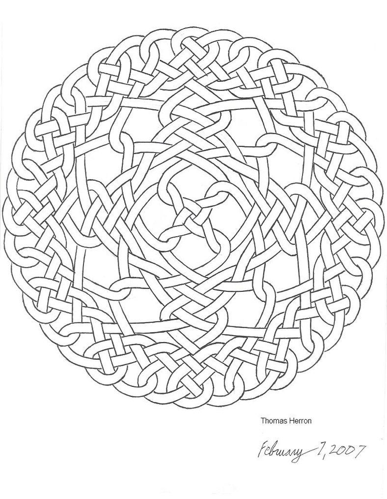 celtic adult coloring pages - photo#17