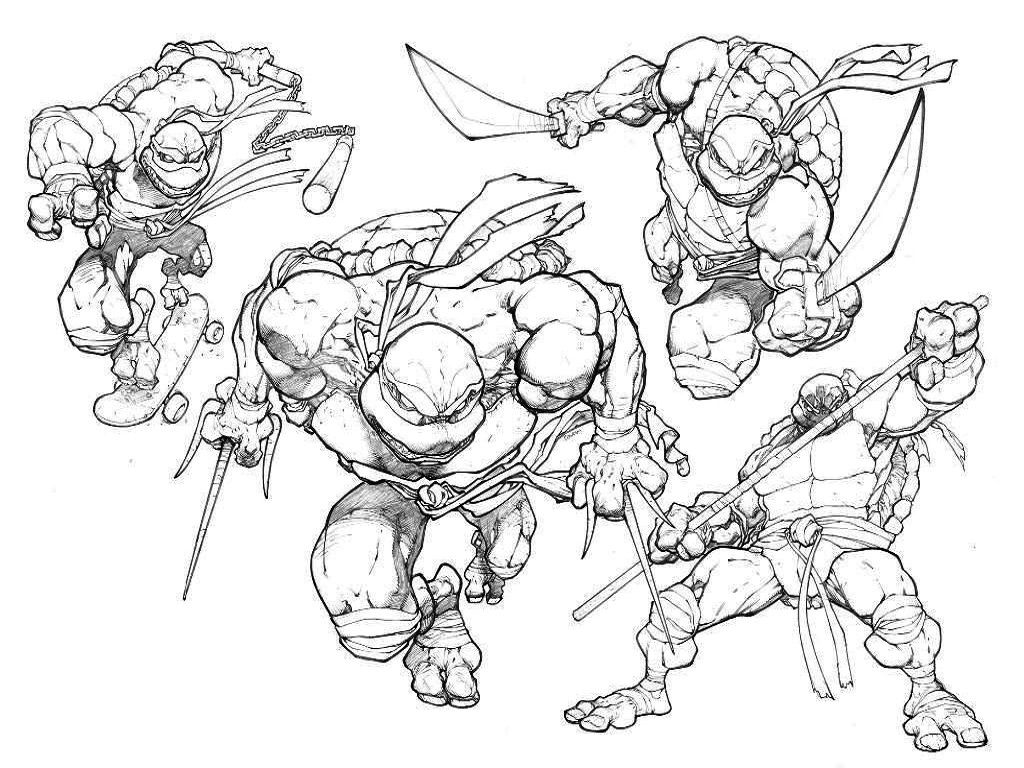 easy tmnt coloring pages - photo#14