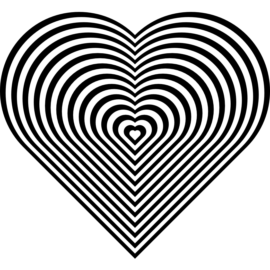 Free Heart Coloring Sheets