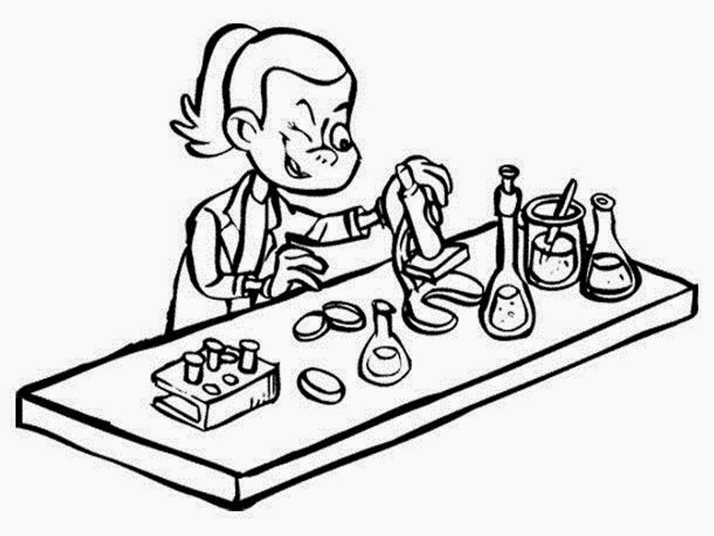 Clip Art Coloring Pages Science science lab coloring pages az mad more from this site science