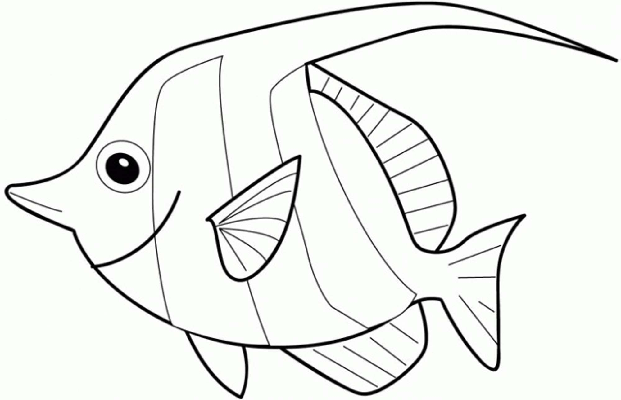 Rainbow Fish Coloring Page Printable Kids Colouring Pages