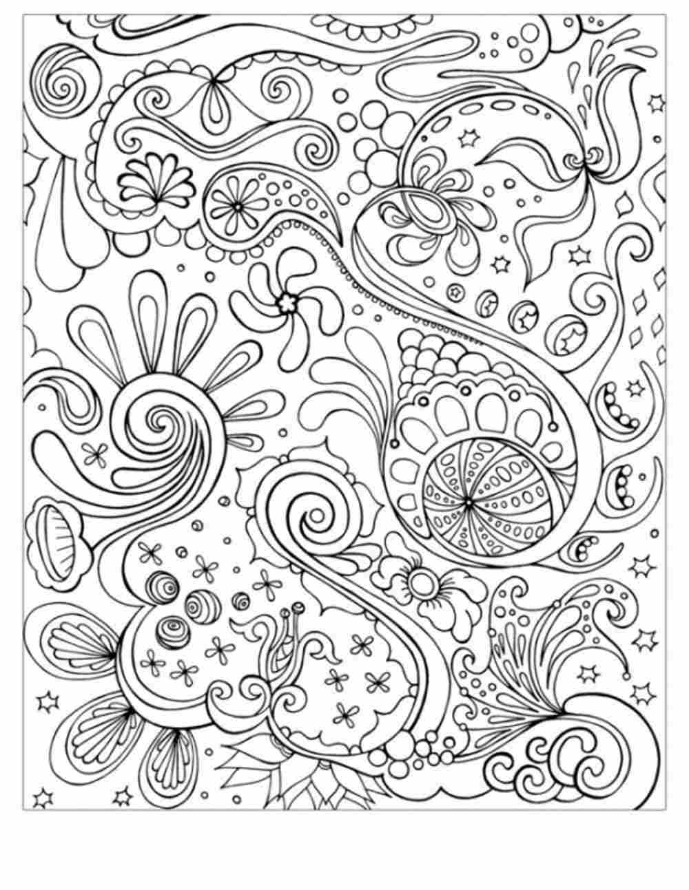 Free Adult Abstract Coloring Pages - Coloring Home
