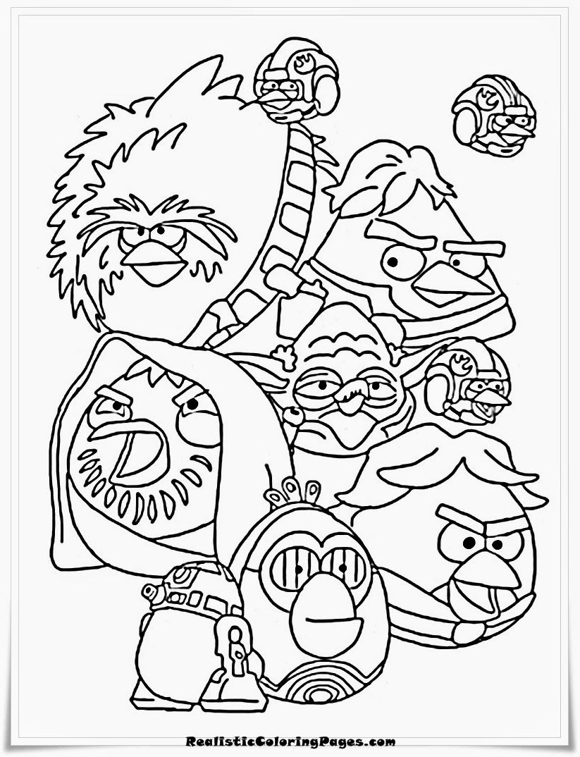 Angry Birds Star Wars Coloring Pages Free Printable