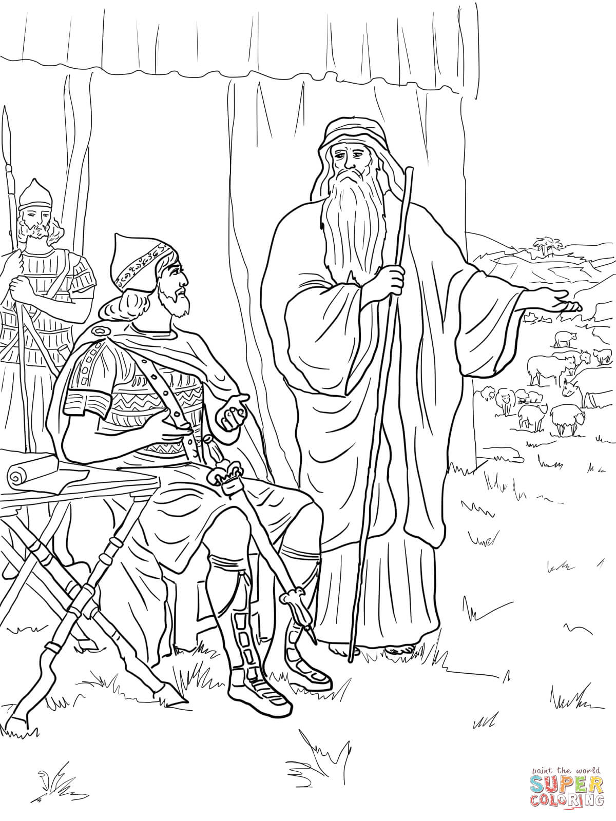 Childrens coloring sheet of saul and ananias - King Saul Coloring Pages Free Coloring Pages