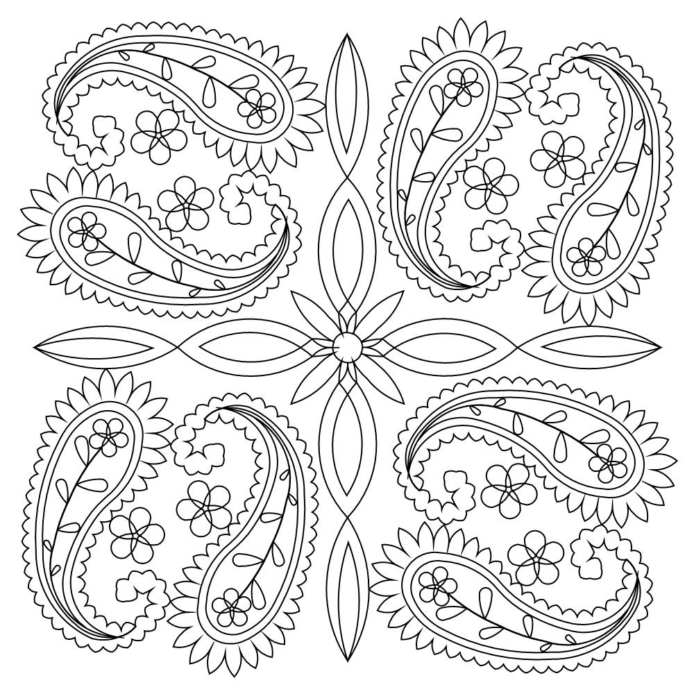 Paisley coloring pages coloring home for Paisley designs coloring pages