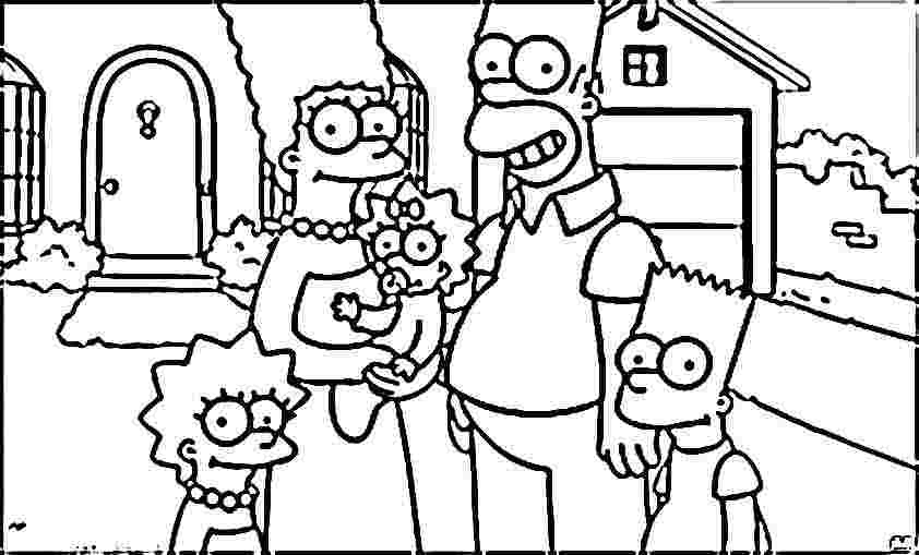 Simpson Coloring Pages Coloring Home