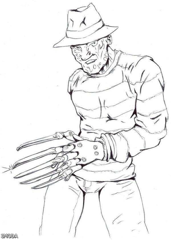 Freddy krueger coloring pages coloring home - Pictures of freddy cougar ...
