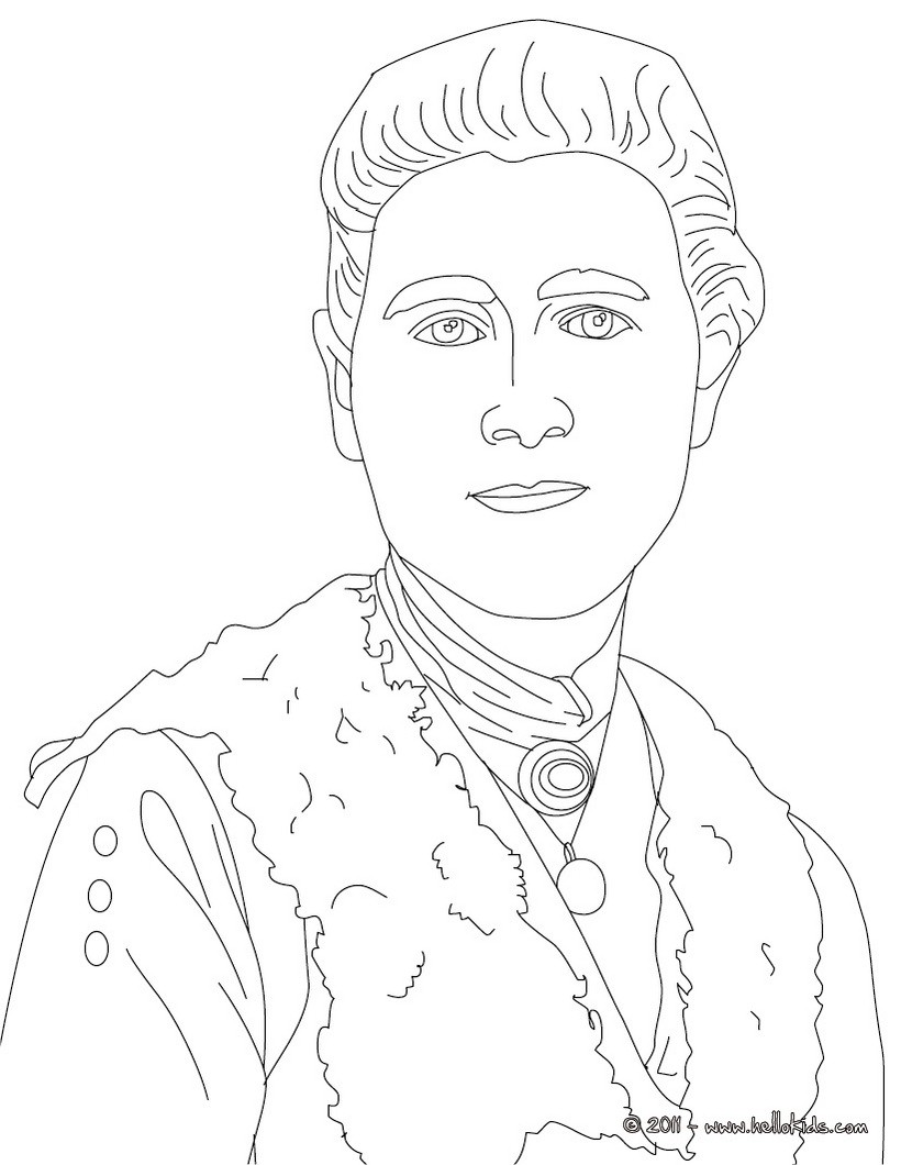 BEATRIX POTTER coloring page - BRITISH AUTHORS colouring pages