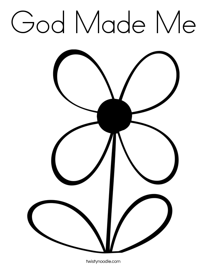 god made coloring pages - photo#22
