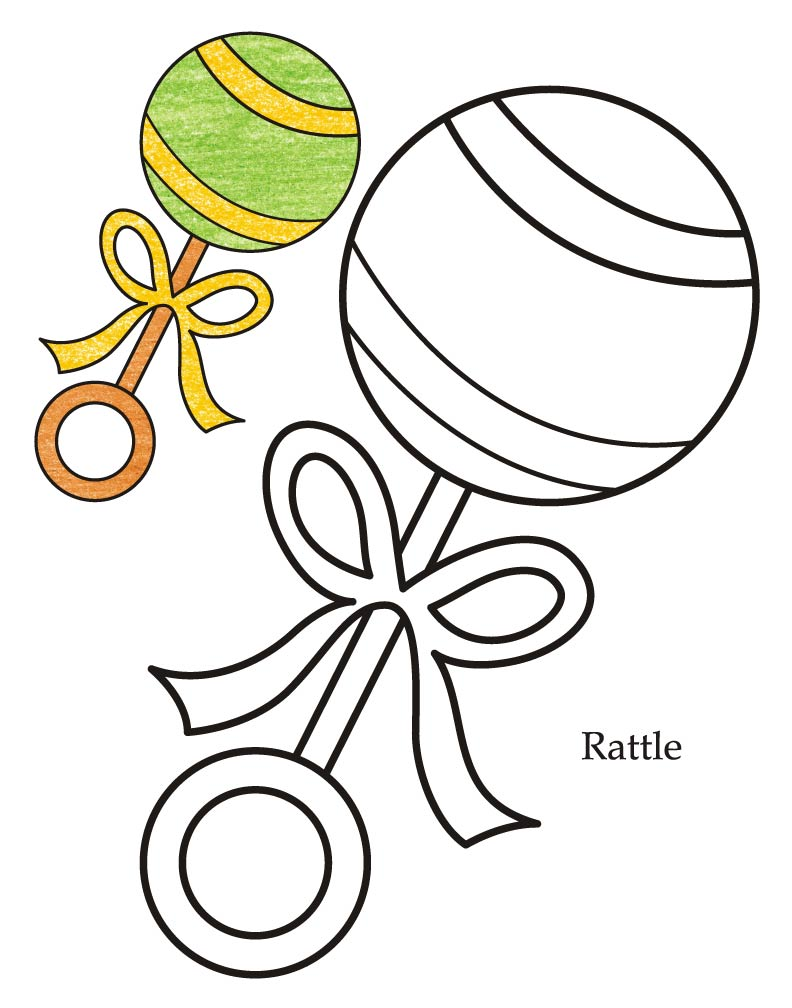 Coloring book page of a pacifier - Level Rattle Coloring Page Download Free 0 Level Rattle