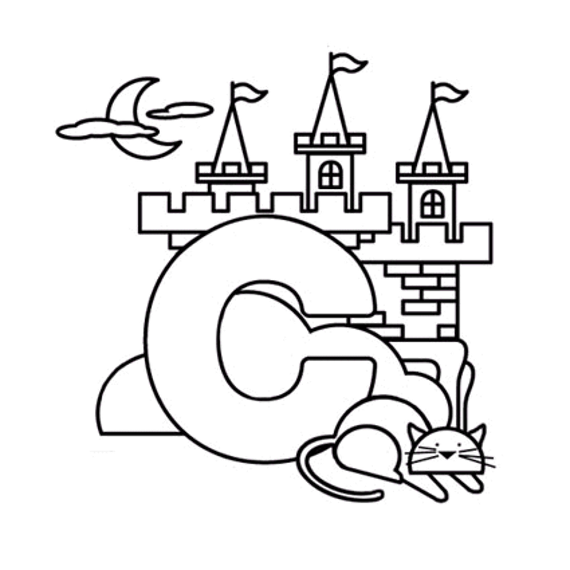 Coloring Pages The Letter C Coloring Pages click the letter c is for cat coloring pages worksheet toddlers cake page kids