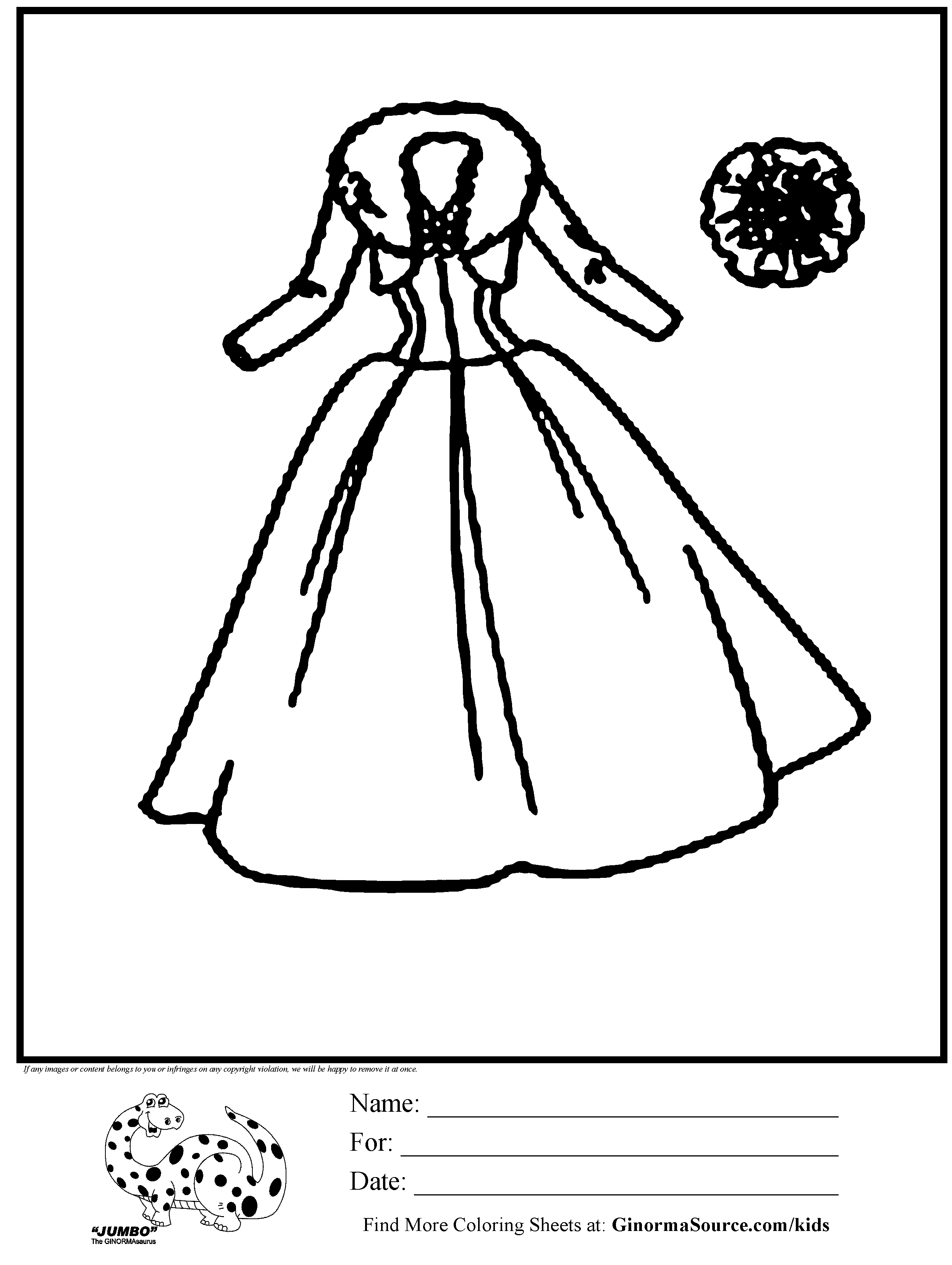 Coloring pages dress coloring home for Coloring page dress