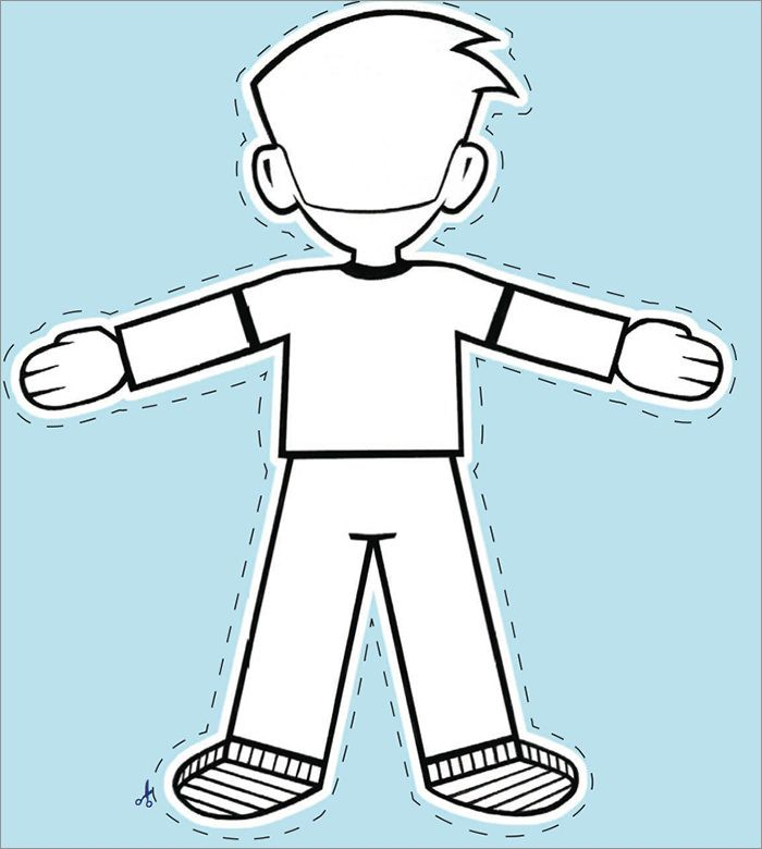 Flat Stanley Writing Template Coloring  Coloring Pages