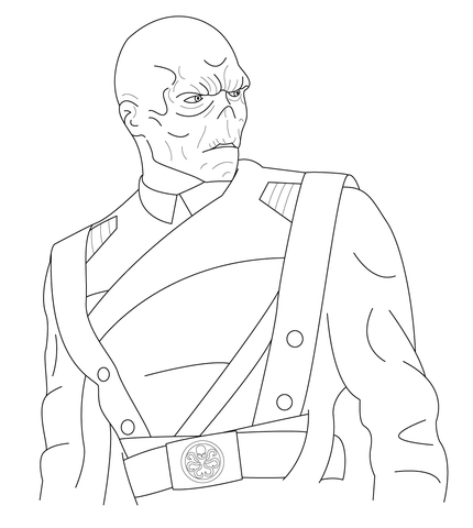 Red Skull coloring page | Free Printable Coloring Pages
