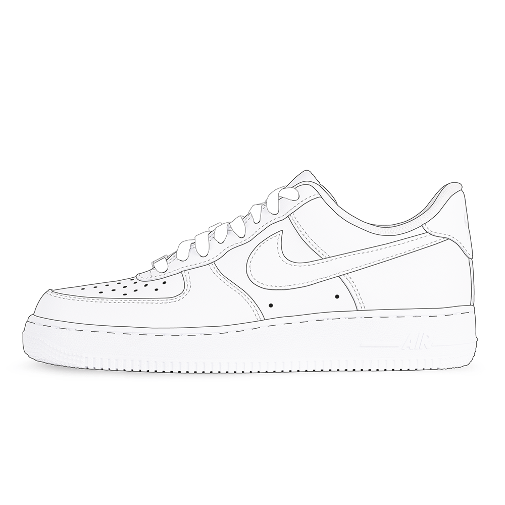 Air Force 1 Low Coloring Pages