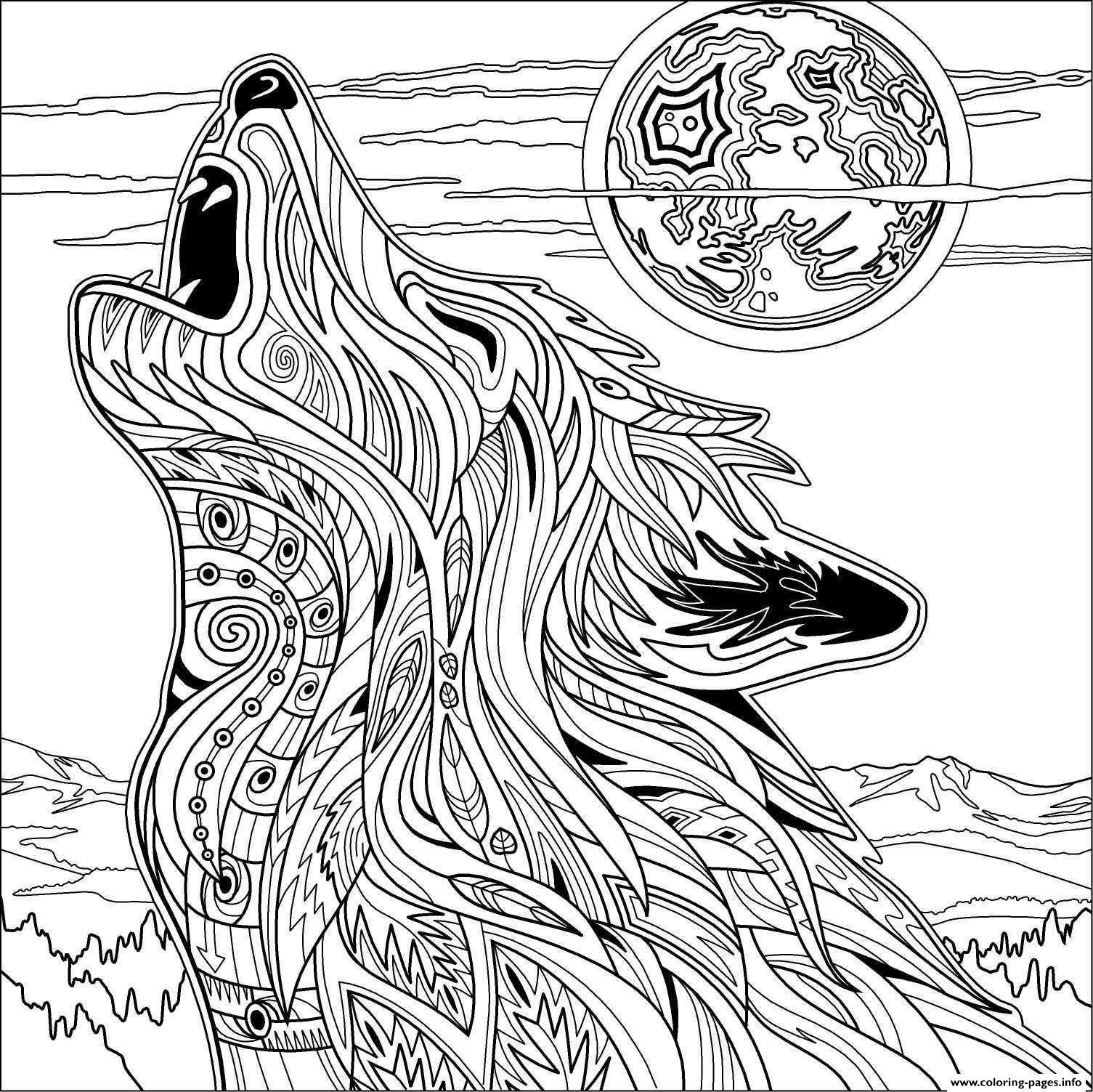 Werewolf Coloring Pages For Adults Part 5 Free Resource For Teaching Coloring Home